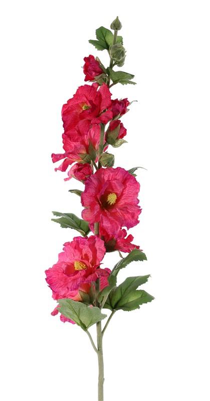 Fleurs artificielles fleurs en soie top art int - Rose tremiere en pot ...